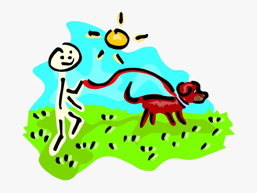 Rover Run Graphic - Cartoon Person Walking A Dog, Transparent Clipart