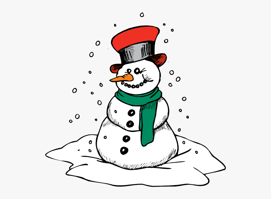 Christmas Printable Snowman Coloring Pages, Transparent Clipart