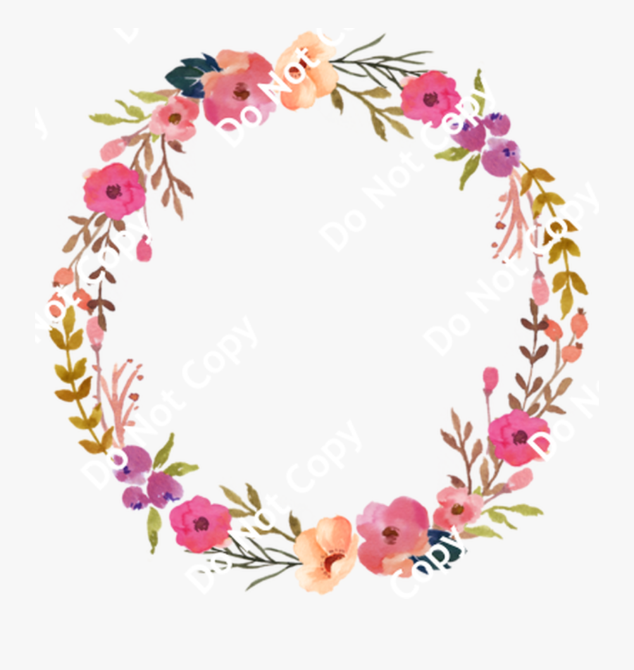 Cds Print N Cut Ready To Apply Boho Designs 54 Wreathe - Pink Flower Wreath Png, Transparent Clipart