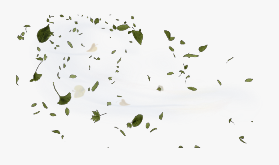 #wind #windy #leaves #blow #blowing - Green Leaves Blowing In The Wind Png, Transparent Clipart
