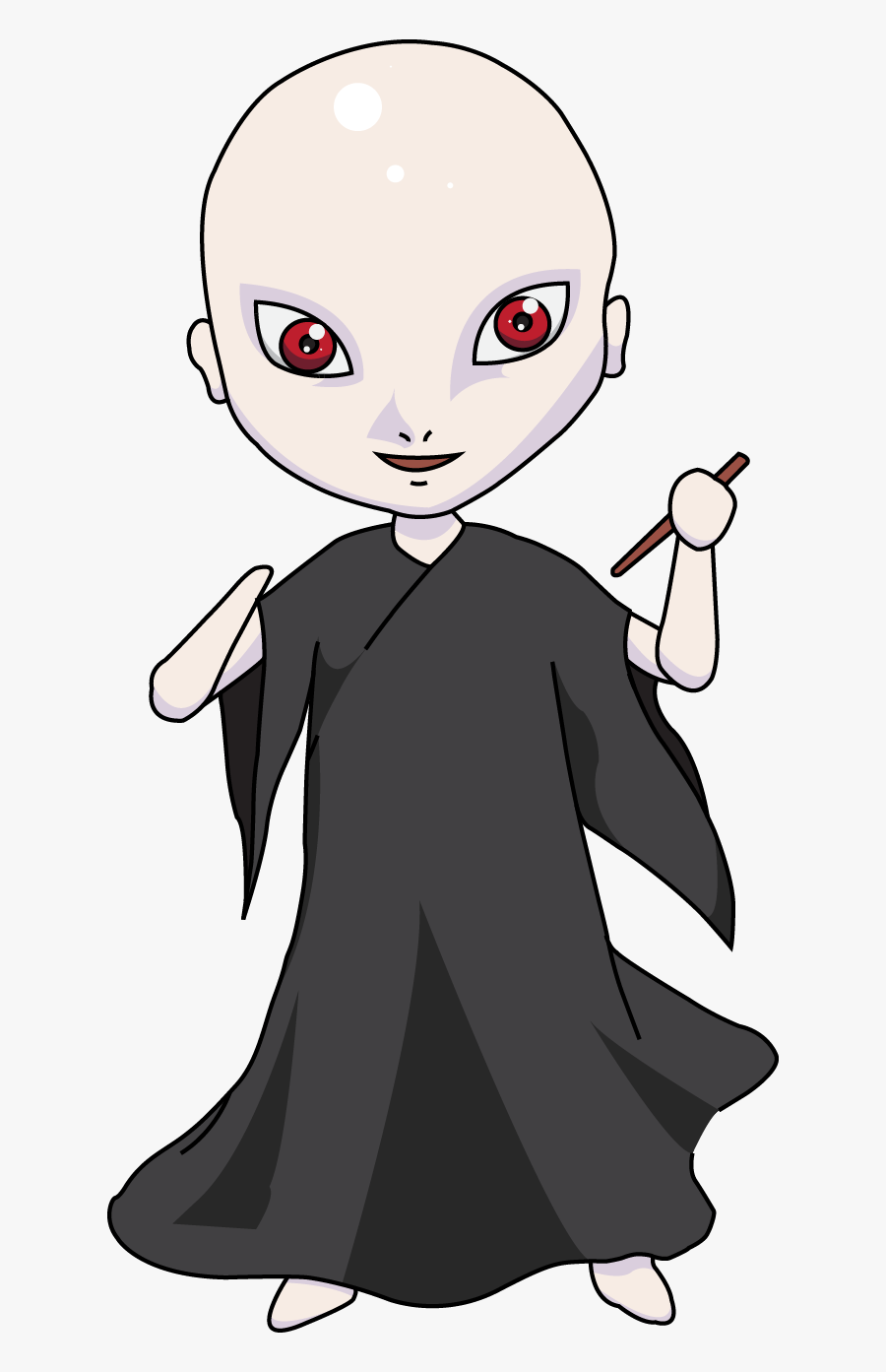 Cartoon Voldemort Transparent Background, Transparent Clipart