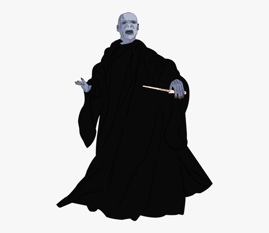 Graphic Black And White Voldemort Quick Art By Xplict - Lord Voldemort White Background, Transparent Clipart