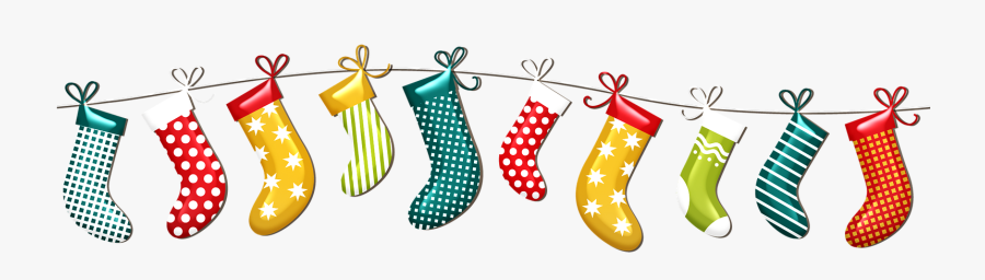 Holiday Stockings Clipart, Transparent Clipart