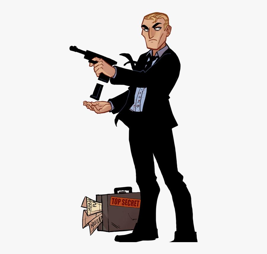 James Bond Clipart Hitman Cartoon Free Transparent