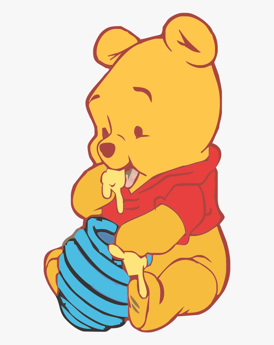 baby winnie the pooh vector clipart  png download  cute