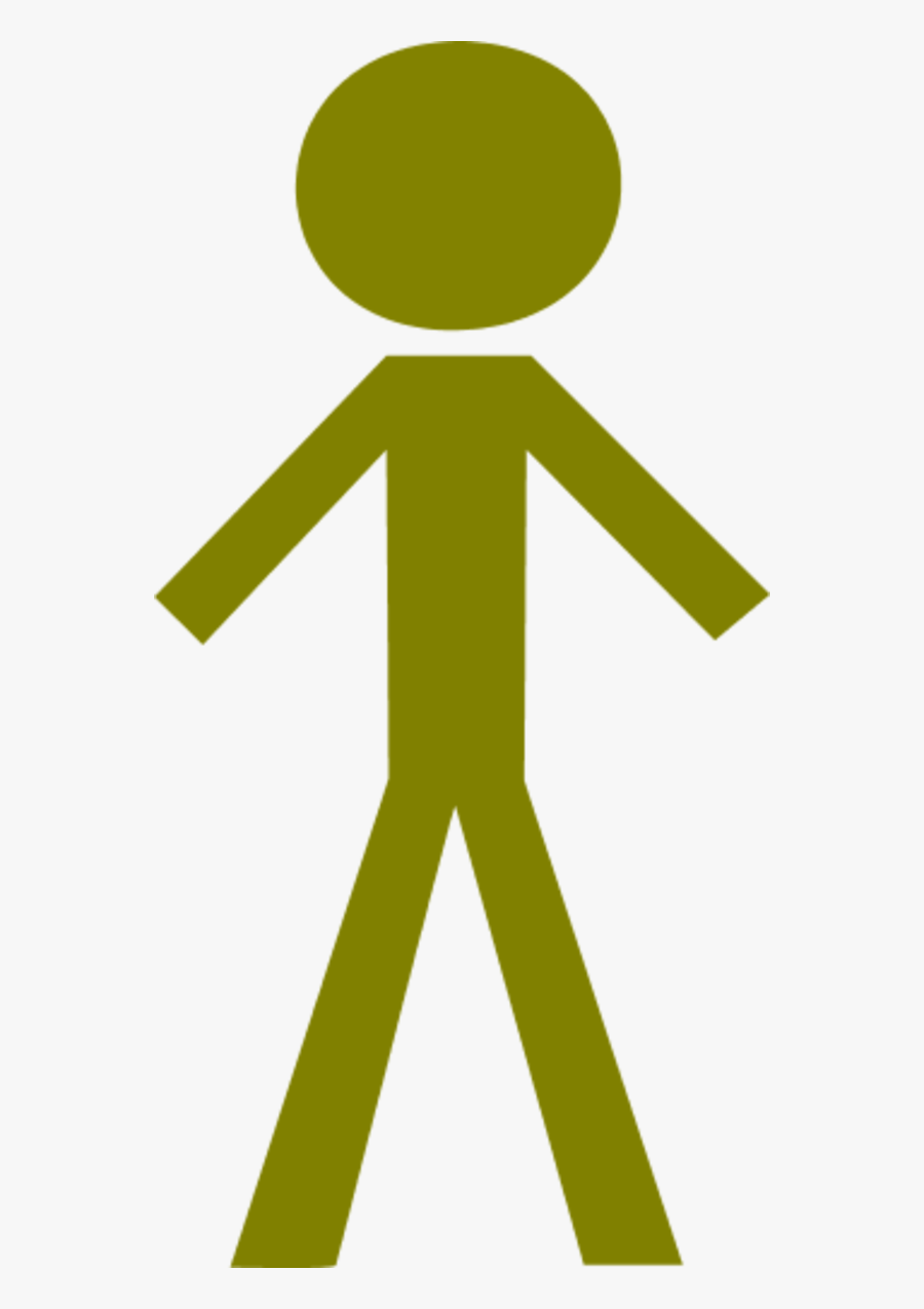 Stick Figure Male - Red Stick Figure Clip Art, Transparent Clipart