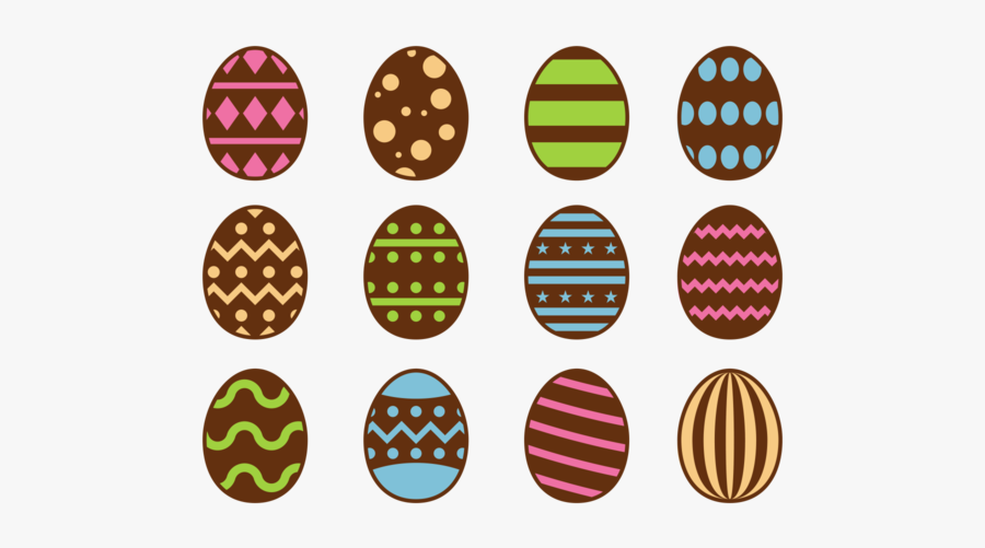 Chocolate Easter Eggs Icons Vector - Black Small Butterfly Clips, Transparent Clipart