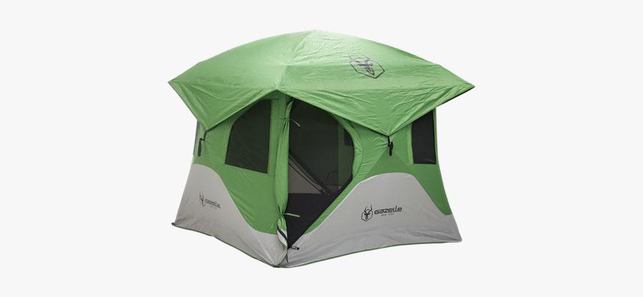 Picture Of 3 Person Gazelle T3 Hub Tent Green - Gazelle Tent, Transparent Clipart