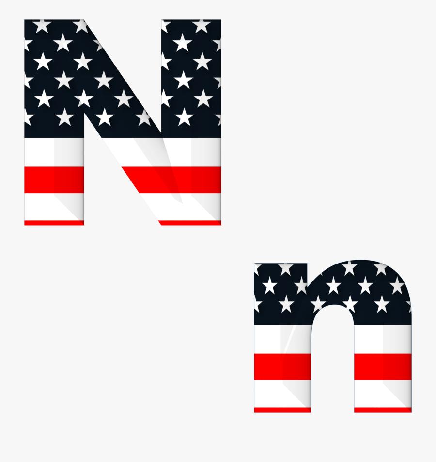 American Flag Letter N Transparent, Transparent Clipart