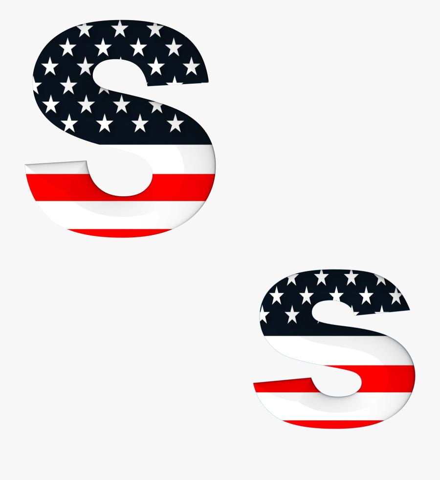 Letter I In American Flag, Transparent Clipart