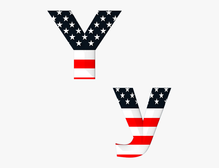 Stars And Stripes Letters, Transparent Clipart