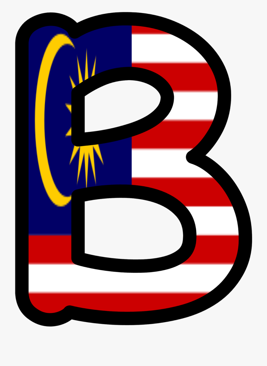 Alphabet N Design In Malaysia Flag, Transparent Clipart
