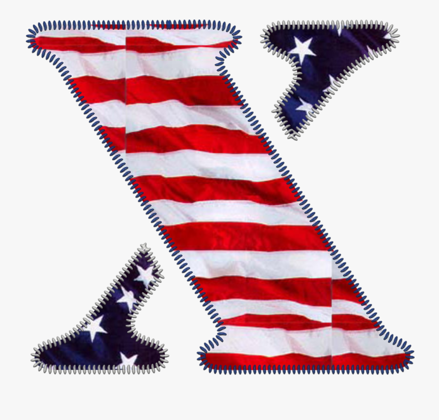 Red White And Blue Letter X, Transparent Clipart