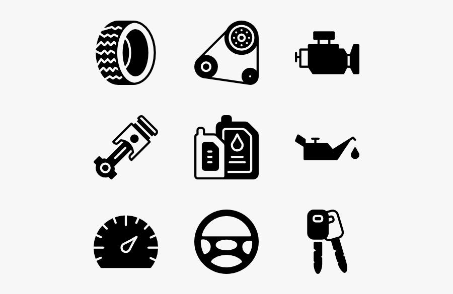 Car Spare Parts Icon, Transparent Clipart