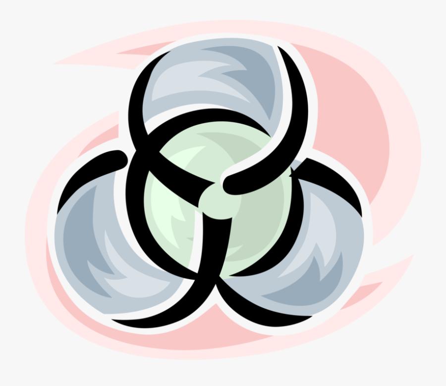 Vector Illustration Of Biohazard Hazardous Toxic Waste - Human Warning Labels, Transparent Clipart