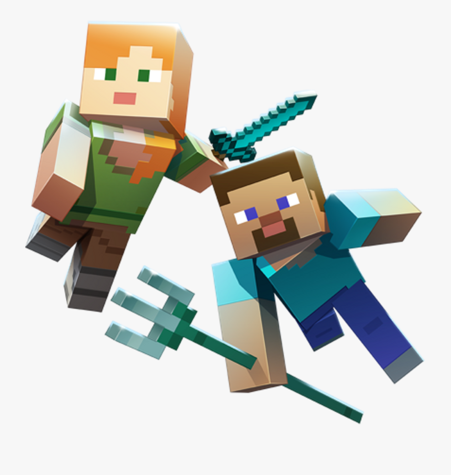 Minecraft Aquatic Steve Alex Trident Sword Diamond Minecraft Steve And Alex Png Free Transparent Clipart Clipartkey