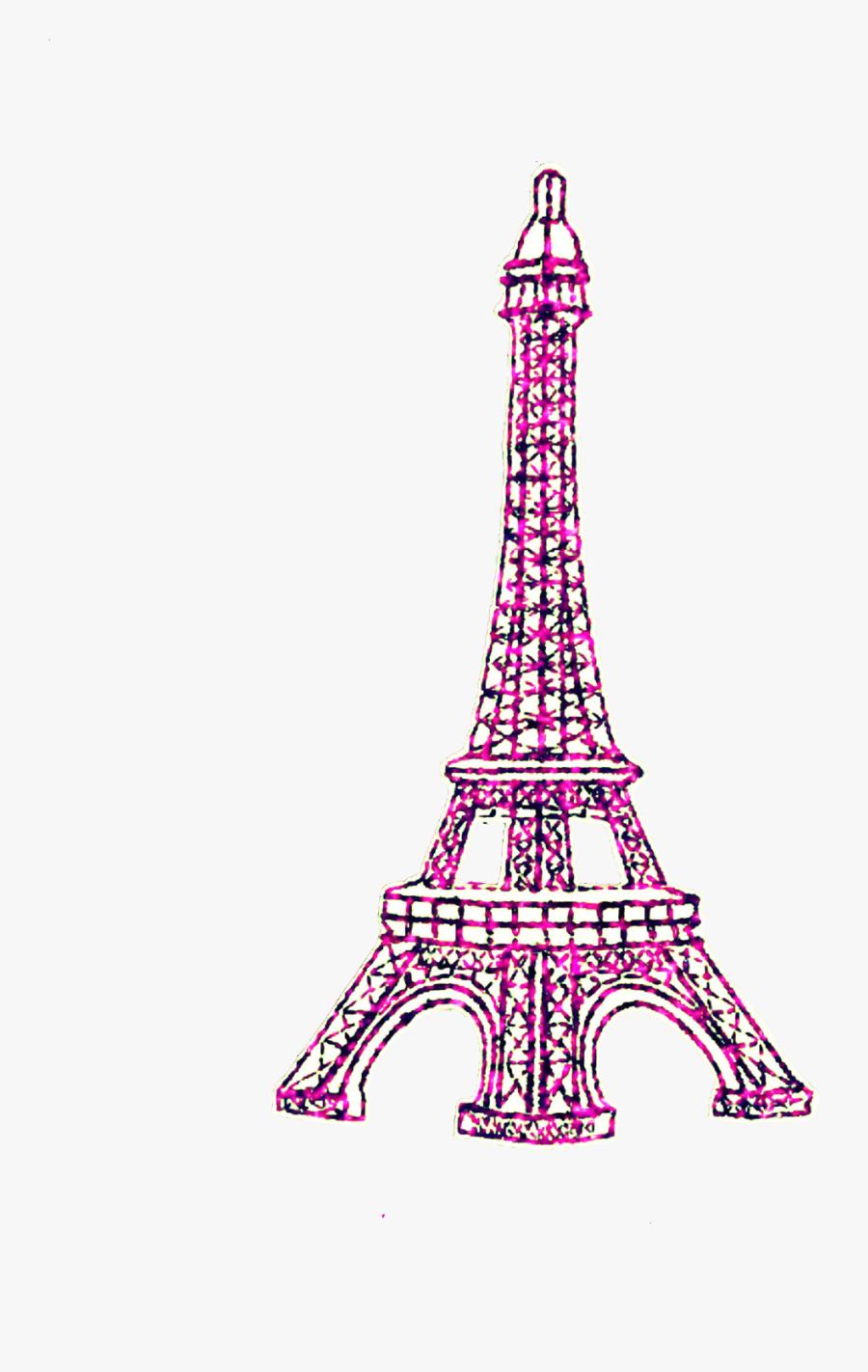 #ftedtickers #glitter #sparkle #pink #paris #eiffeltower - Cute Eiffel Tower Png, Transparent Clipart