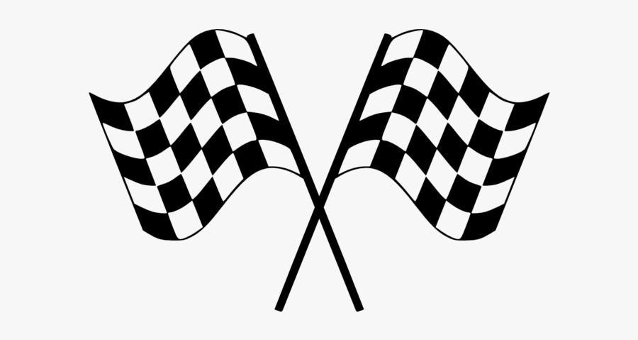 Checkered Flag Wide - Printable Checkered Flag, Transparent Clipart