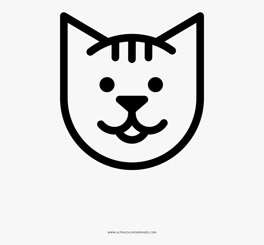 Cat Coloring Page - Cartoon, Transparent Clipart