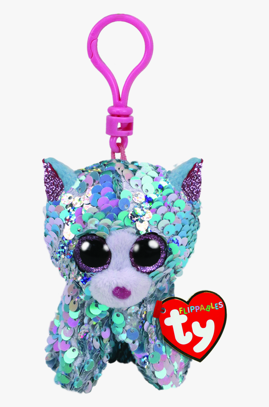 Ty Beanie Boo Flippables Clip Whimsy Cat - Keychain Beanie Boo Cat, Transparent Clipart