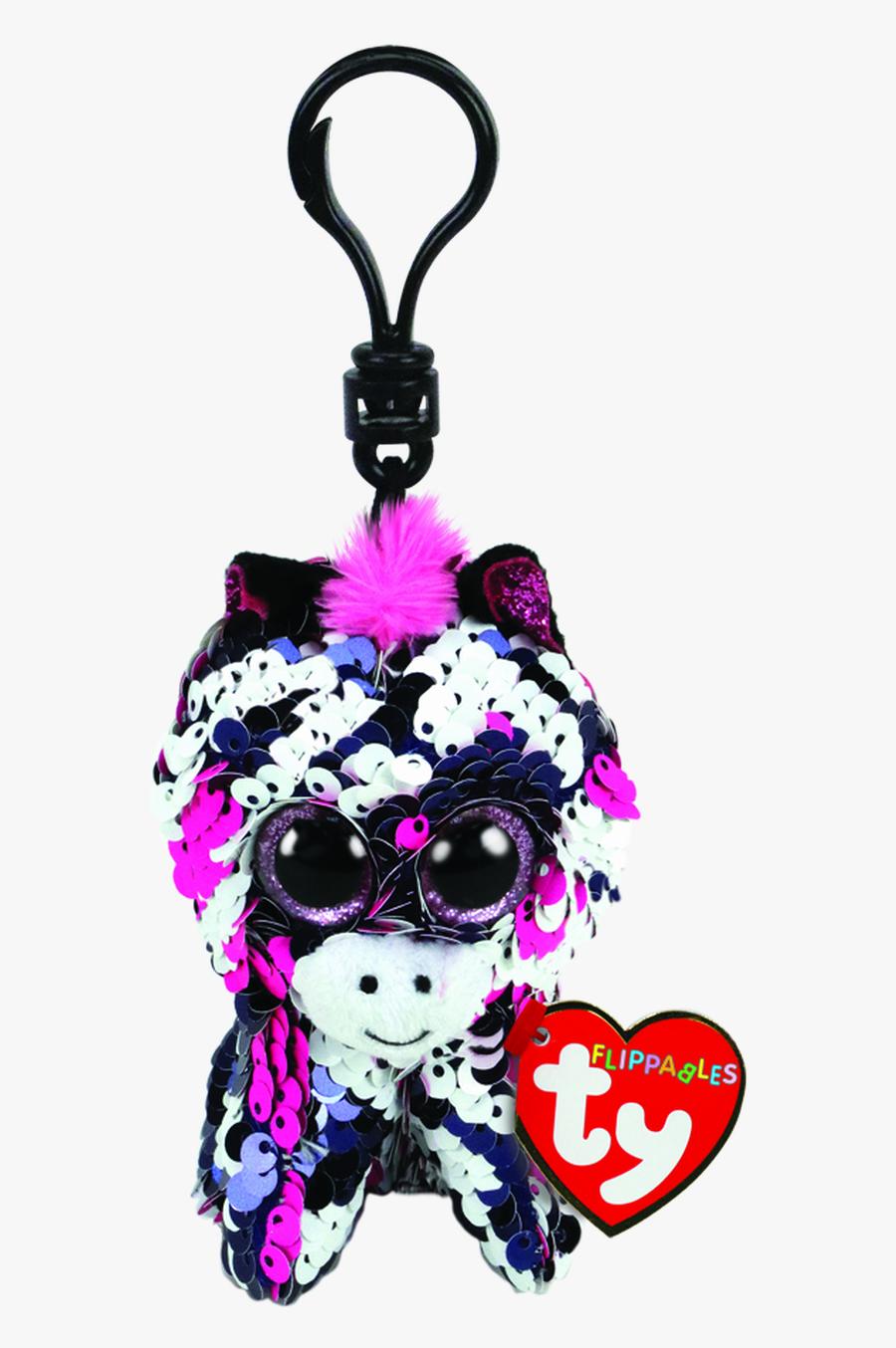 Ty Beanie Boo Flippables Clip Zoey Zebra - Zoey Zebra Beanie Boos, Transparent Clipart
