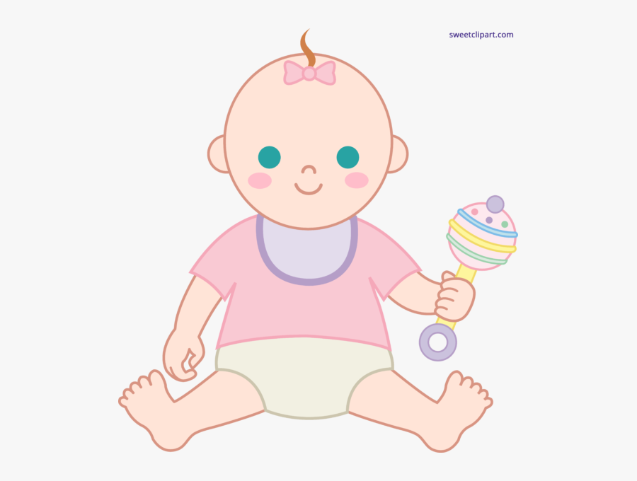 Png Free Babies Playing Clipart - Clipart Baby With Rattle, Transparent Clipart