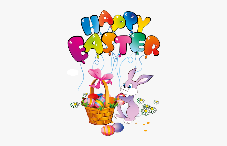 #happyeaster #easter #easterday #easteregg #eadterbunny - Happy Easter Bunny Clipart, Transparent Clipart