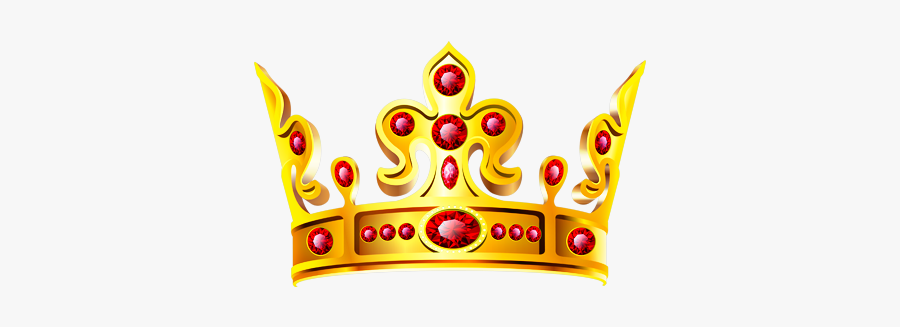 #crown #gold #ruby #royal #queen #princess #king #prince - Transparent Background Crown Png, Transparent Clipart