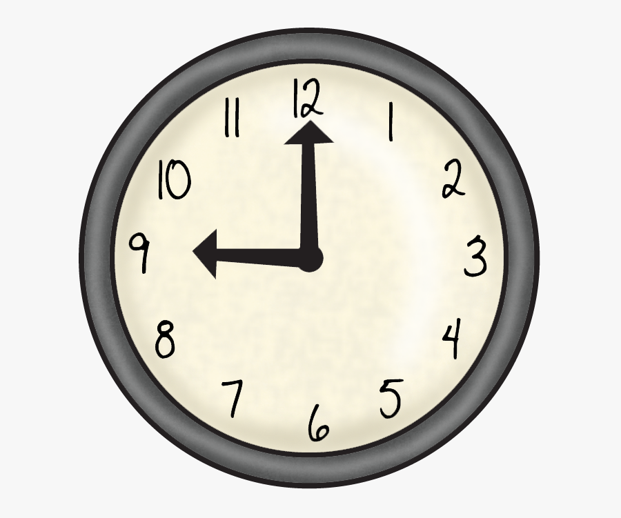 Clock For Kindergarten, Transparent Clipart