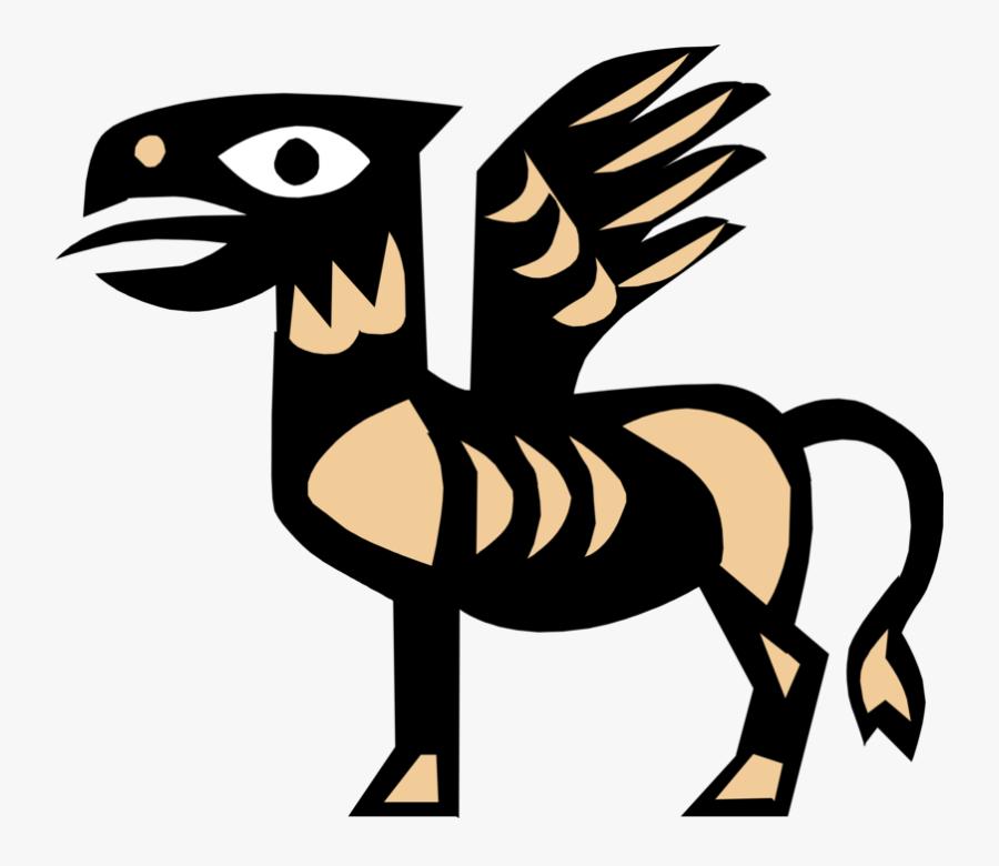 Vector Illustration Of Pegasus Winged Divine Stallion - Greek Mythology Symbols, Transparent Clipart