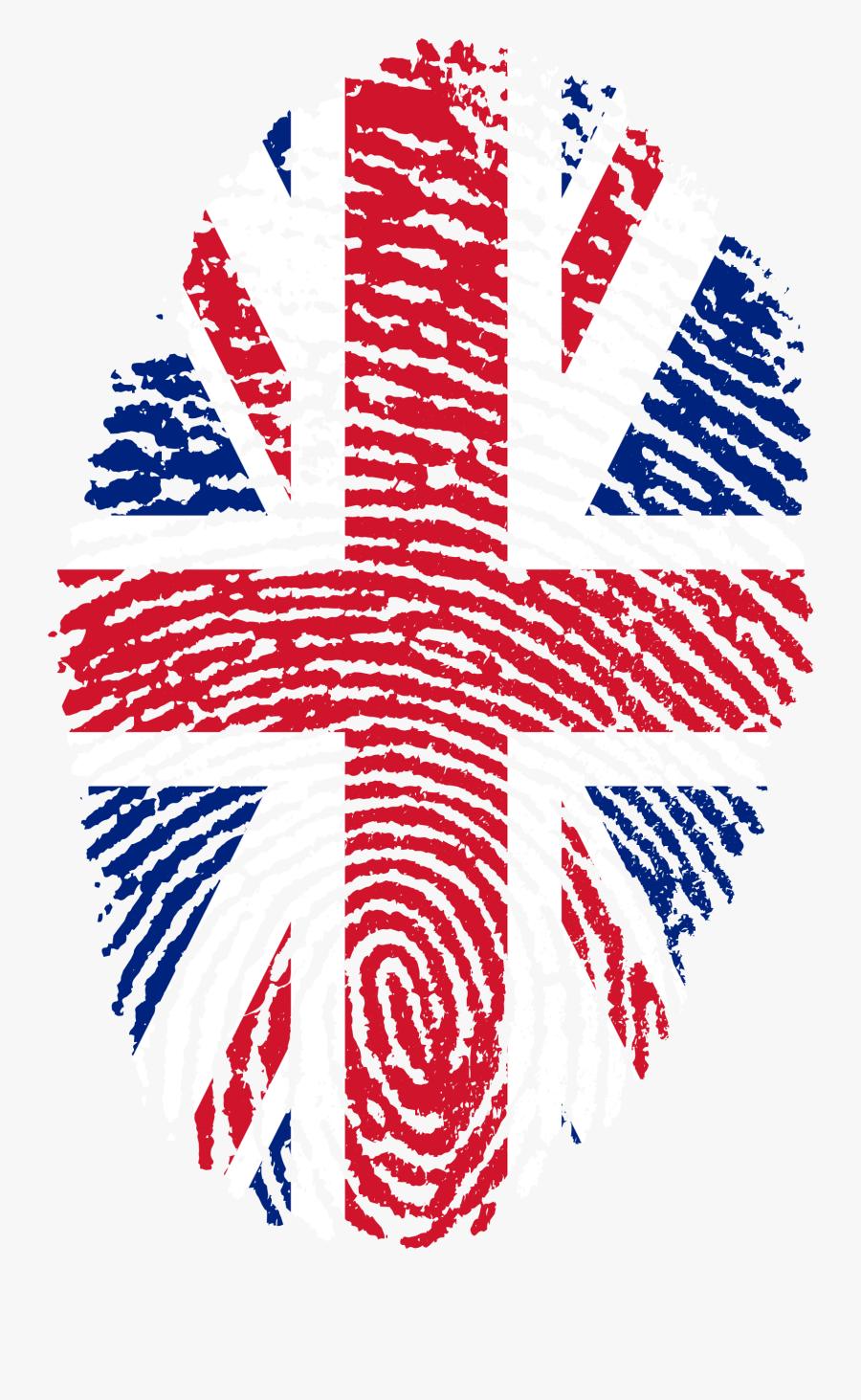 Uk Flag Fingerprint, Transparent Clipart