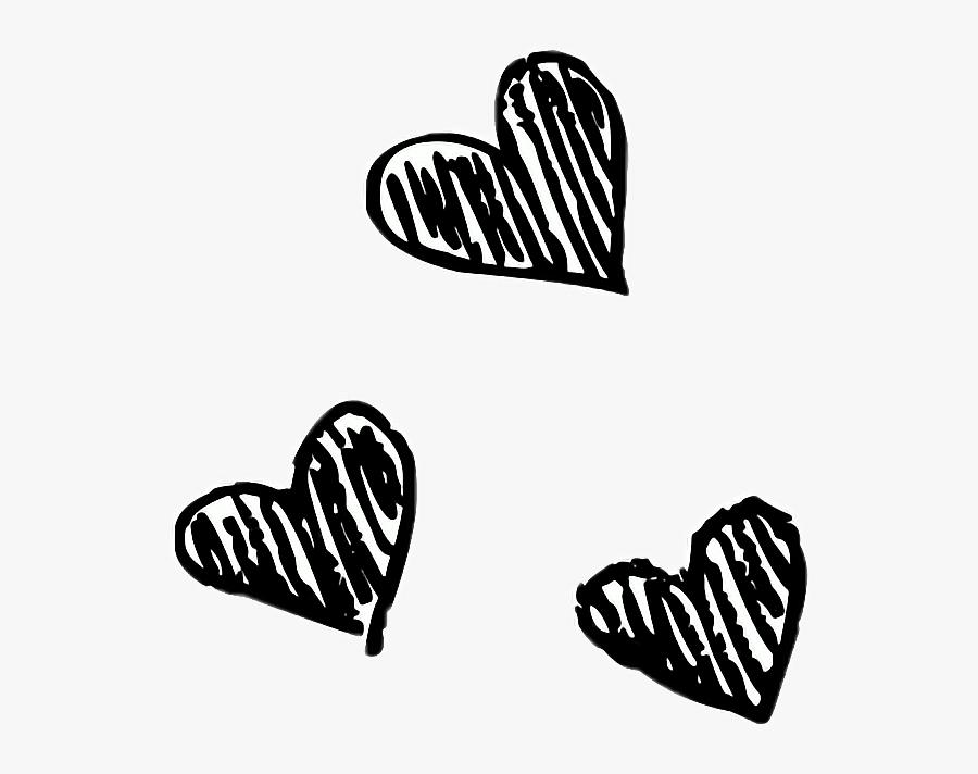 #heart #art #pencil #doodle #drawing #blackandwhite - Heart Black Drawing Png, Transparent Clipart