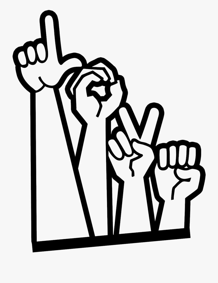 Love In Sign Language- Zamforia Logo - Symbol Sign Language Png, Transparent Clipart