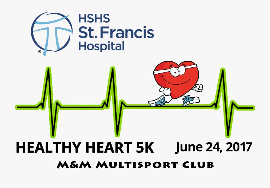 Run For Healthy Heart, Transparent Clipart