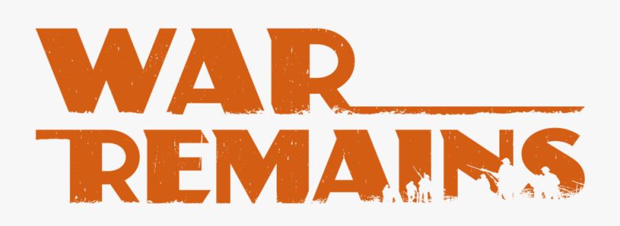 War Remains Logo Red, Transparent Clipart