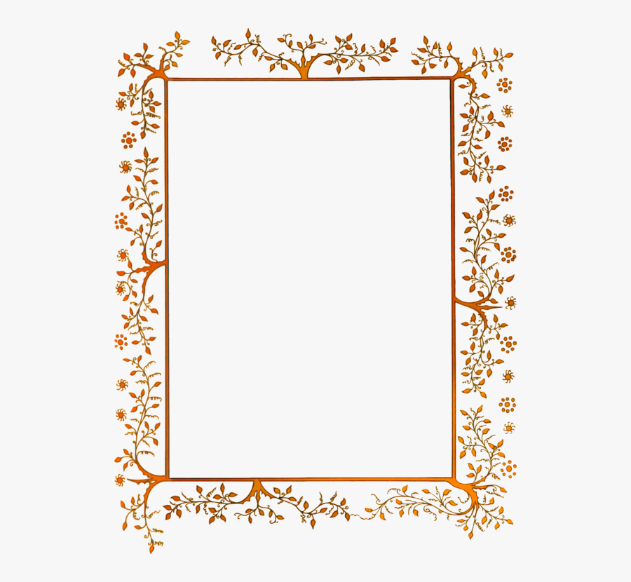 Picture Frame,square,symmetry - Transparent Vintage Floral Border, Transparent Clipart