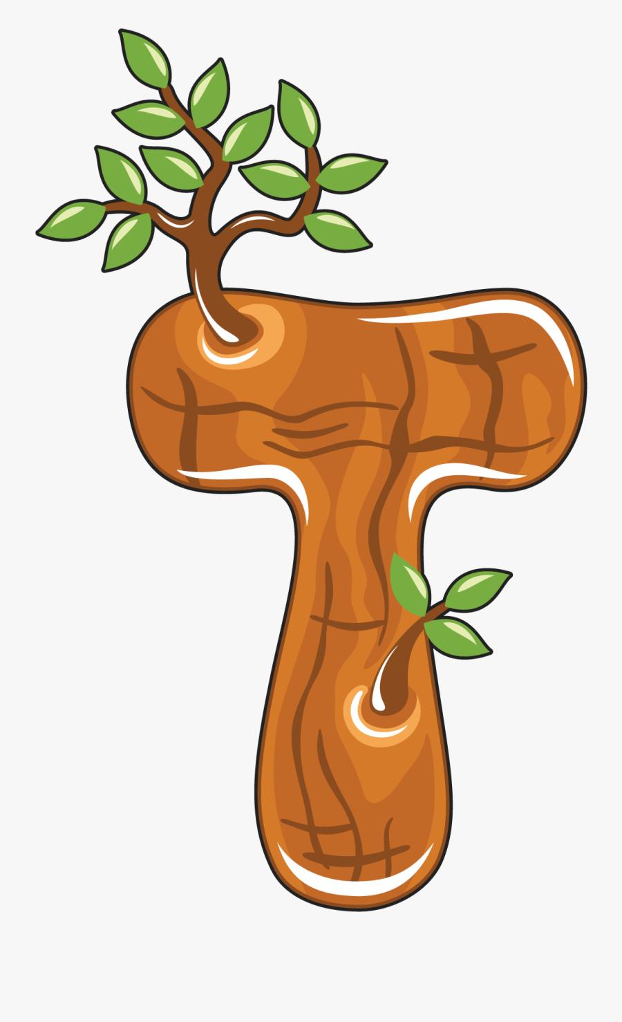 Lettering Clipart Letter T - Letter T Tree Clipart, Transparent Clipart