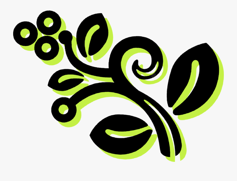 Vector Illustration Of Abstract Enigmatic Floral Decorative - Graphic Design, Transparent Clipart
