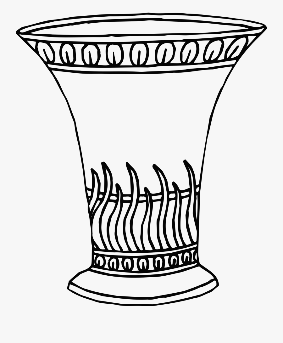 Flowers In Of How To Draw Sunflowers - Vase Line Drawing Png, Transparent Clipart