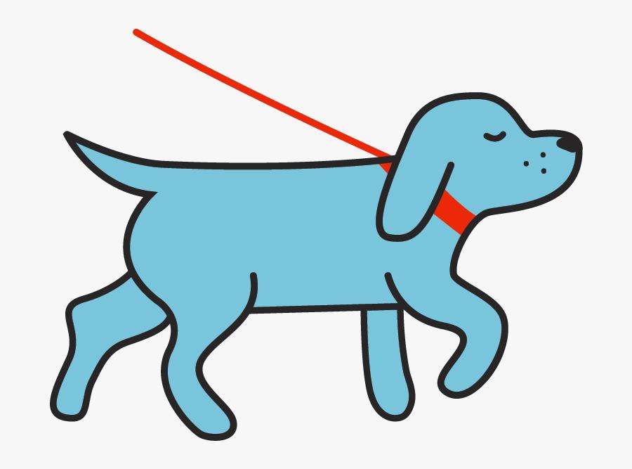Dog Walking Png Cartoon, Transparent Clipart