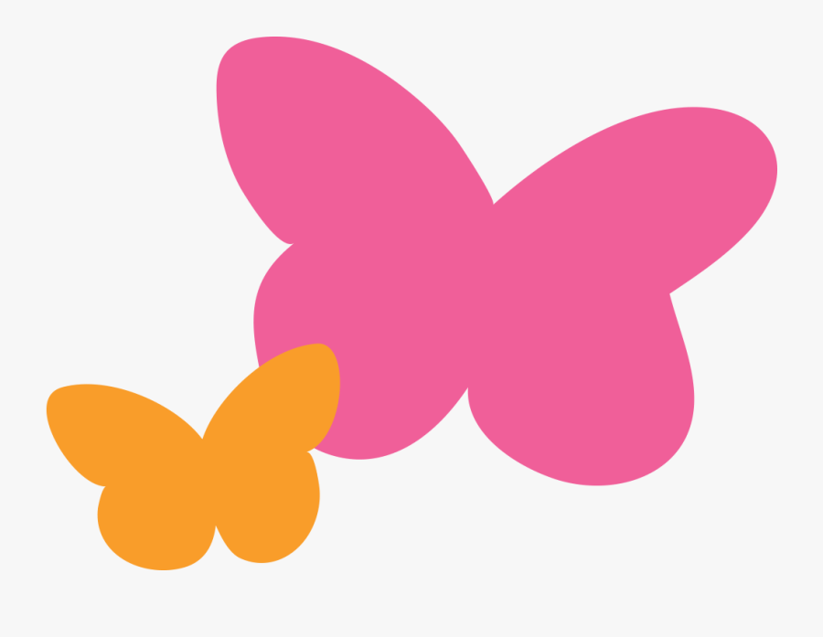 2020 Butterflies Pink And Orange - Butterfly, Transparent Clipart