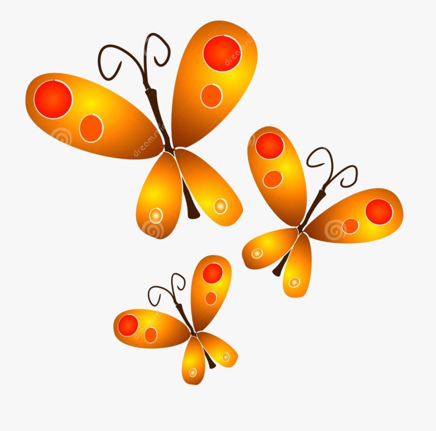Gold Butterflies Png By Hanabell1 - Butterfly Clipart, Transparent Clipart