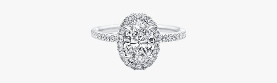 The One, Oval-shaped Diamond Micropavé Engagement Ring - Egg Shaped Engagement Ring, Transparent Clipart