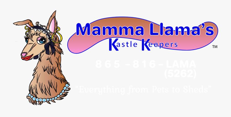 "Mamma Llama""s Kastle Keepers & Sitting Services Logo - Cartoon, Transparent Clipart"