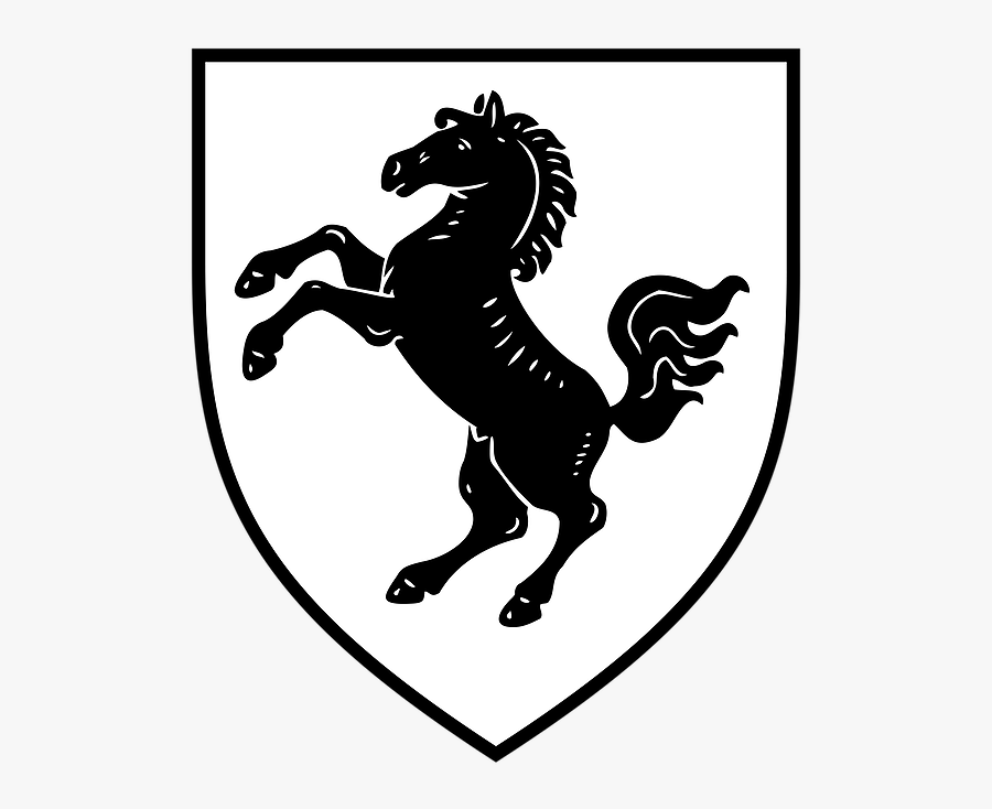 Coat Of Arms With Horse, Transparent Clipart