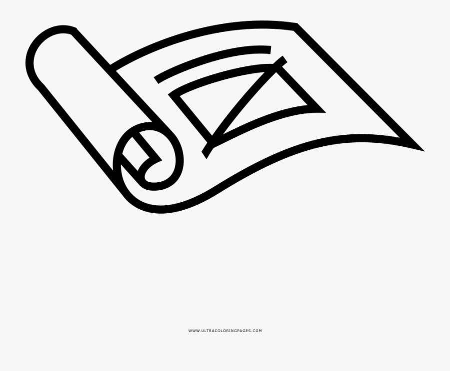Transparent Blue Print Png - Blueprint Coloring Page, Transparent Clipart