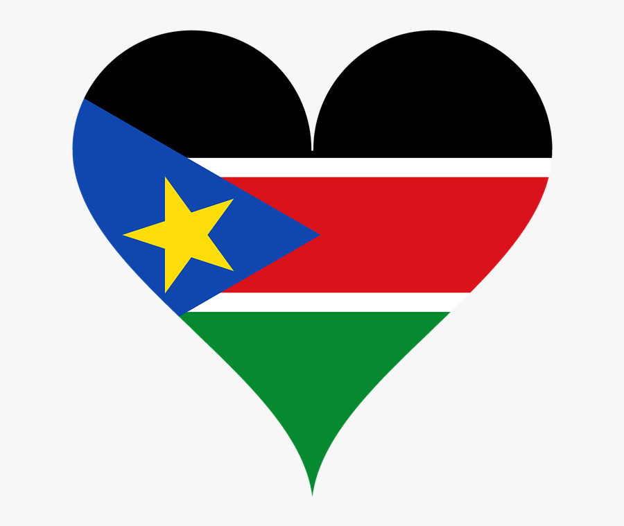 Flag Of South Sudan Love, Transparent Clipart