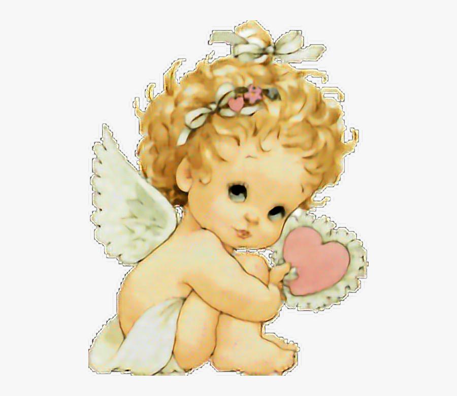 #baby #angel #babygirl #angelic #wings #love #heart - Angeles De Preciosos Momentos, Transparent Clipart