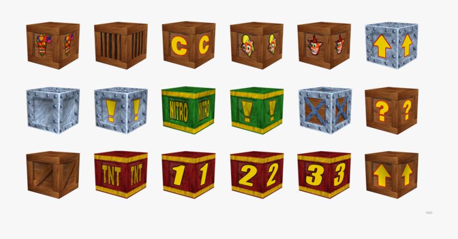 All Crash Bandicoot Crates, Transparent Clipart