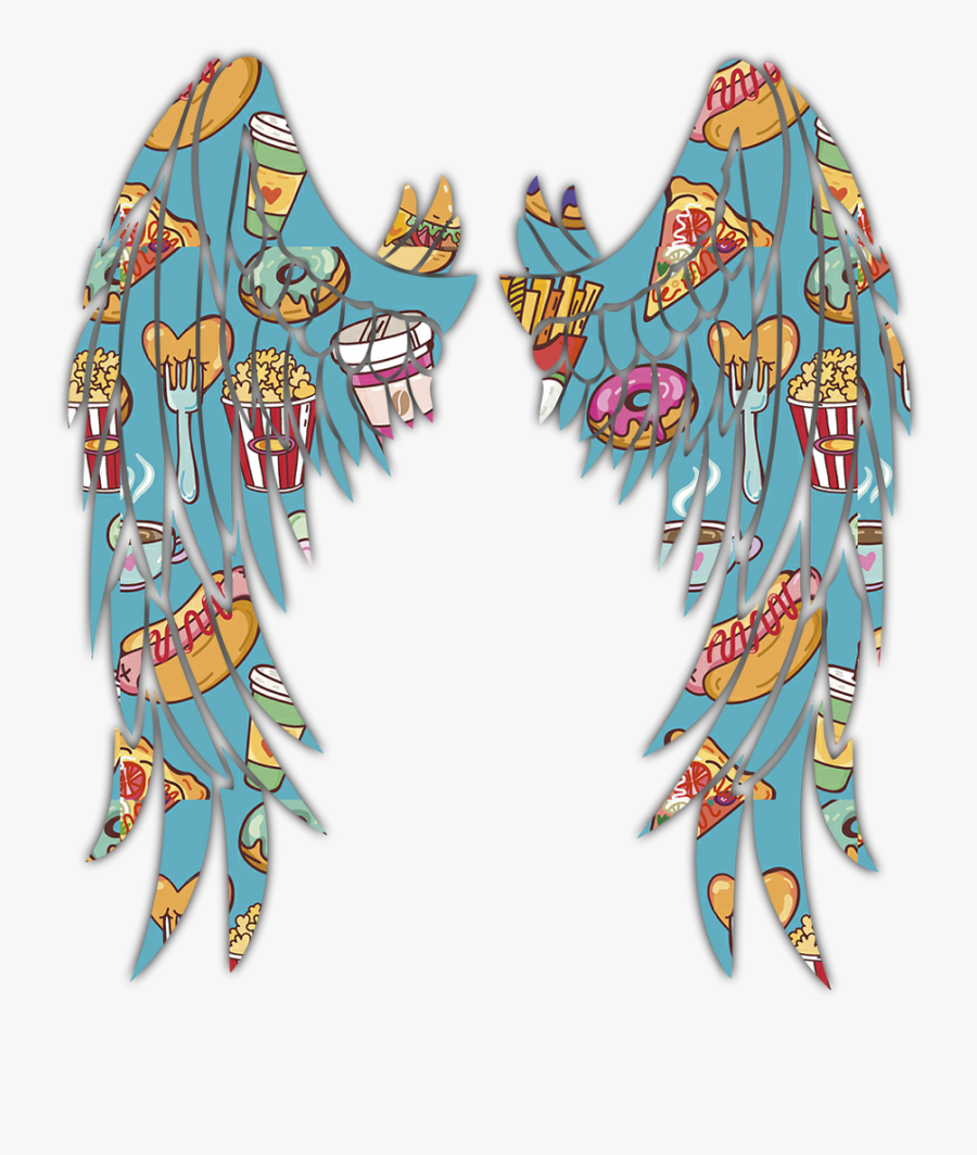 #wing #wings #angel #blue #food #freetoedit #ftestickers, Transparent Clipart